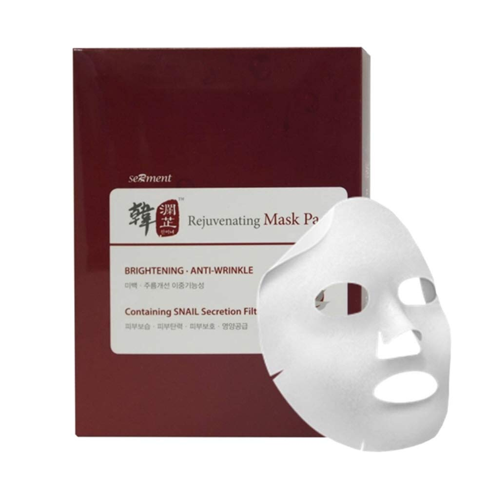 [Serment] Korean Cosmetics Serment Rejuvenating Snail Mask 10pcs for Brightening, Anti-wrinkle, Skin Tightening With Advanced Super Liposome technology
