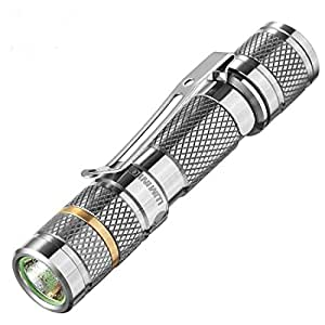 Titanium Innovations Cool Small AAA Flashlight, Best Gifts Ideas Items: High Power 110 Lumens Waterproof LUMINTOP Tool Ti Keychain Flashlight With Clip, Cree XP-G2 R5 LED, Unique TC4 Titanium Body