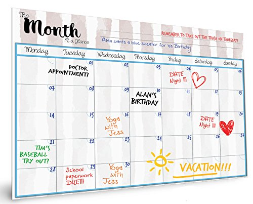 MagnetMate Premium Magnetic Dry Erase Calendar for Fridge | Large 16x12 Monthly Whiteboard Planner & Organizer for Kitchen Refrigerator | Includes FREE Black Magnet Marker | Family To Do List Section