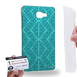 Case88 [Samsung Galaxy A9 (2016)] Gel TPU Carcasa/Funda & Tarjeta de garantía - Art Aztec Carpet Mint Floral Art2610