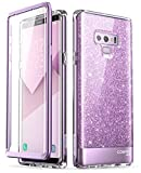Samsung Galaxy Note 9 Case, [Built-in Screen Protector] i-Blason [Cosmo] Full-Body Glitter Bumper Protective Case for Galaxy Note 9 (2018 Release) (Purple)