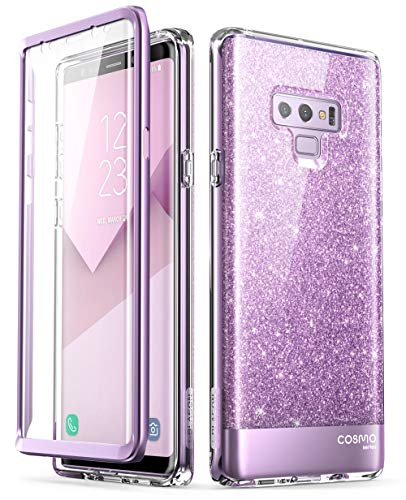- i-Blason Cosmo Full-Body Glitter Bumper Protective Case for Galaxy Note 9 2018 Release, Purple