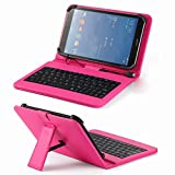 Universal Pu Leather Folding Folio Case Cover with Keyboard (8kpk) for Acer Iconia Tab 7 A1-713 7