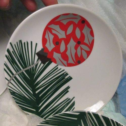 Crate & Barrel Holiday Red Christmas Ornament on Tree Branch 6 1/2