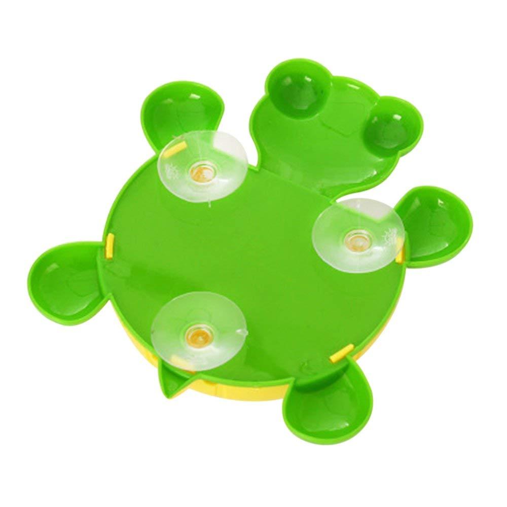 Erduo Cartoon Cute Turtle Wall Sucker Holder Cepillo de Dientes Hogar Baño Niños Ventosa Cepillo de Dientes Ganchos Accesorios de baño - Amarillo: ...