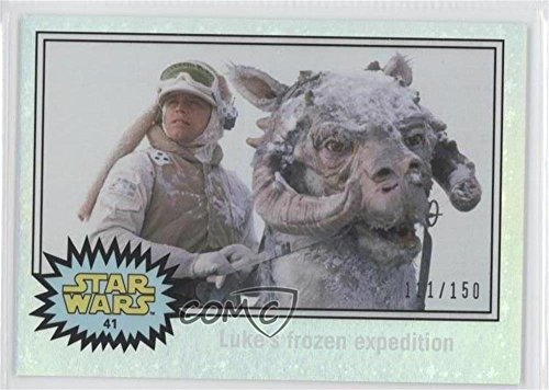 The Empire Strikes Back - Luke's frozen expedition #111/150 (Trading Card) 2015 Topps Star Wars: Journey to The Force Awakens - [Base] - Hoth Ice Foil Starfield #41