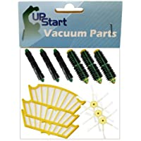 Replacement iRobot Roomba 532 Pet Series Filter, Bristle Brush, Flexible Beater Brush and 6-Arm Side Brush - Kit Includes 3 Filter, 3 Bristle Brush, 3 Flexible Beater Brush and 3 6-Arm Side Brush