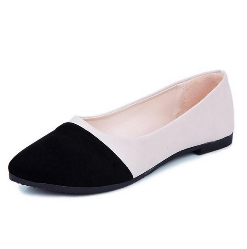 Driving Loafers Pointed Flats Slip-On Ballet Pointy Toe Girl's Women's Shoes Comfort Black Multicolor Classic (B(M) US6.5-7/EU37/UK4.5-5/CN37, Black)