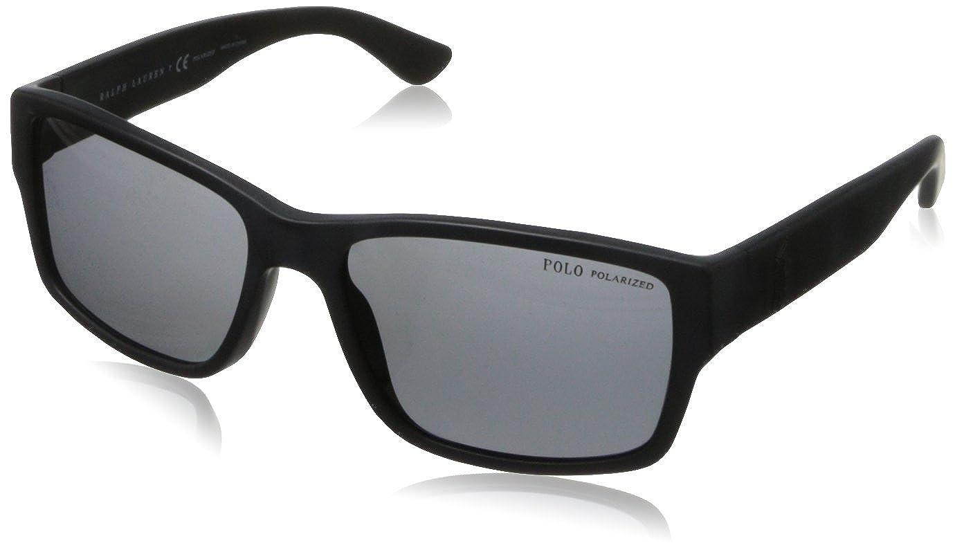 Ralph Lauren POLO 0PH4061 Gafas de Sol, Matte Black, 57 para ...