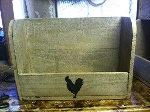 Primitive Rooster Shelf ,Magazine rack/ spice rack