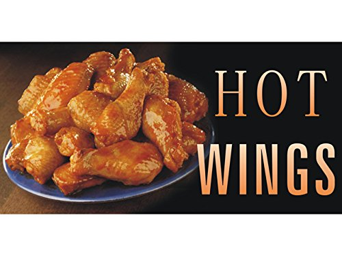 bn2075 Hot Wings Food Chicken Delicious Banner Sign New (Pattern1)