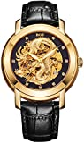 BOS Men's 'Dragon Collection' Luxury Carved Dial Automatic Mechanical...