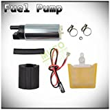 2005 chevy tahoe fuel filter - MUCO New 1pc Genuine 255LPH High Flow OE Upgrade Performance Electric Gas Intank EFI Fuel Pump With Strainer/Filter + Rubber Gasket/Hose + Stainless Steel Clamps + Universal Connector Wiring Harness