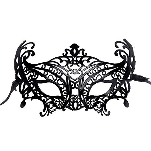 Susenstone®Venetian Hollow Masquerade Women Halloween Mask (Black)