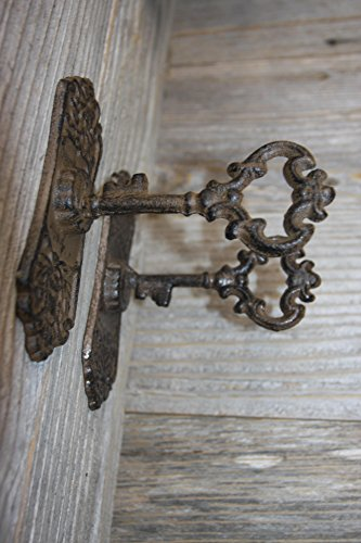 Old Fashion Cast Iron Cabinet Pulls Skeleton Key Design, HW-04 Set of 2 (Set Hutch Rectangular)