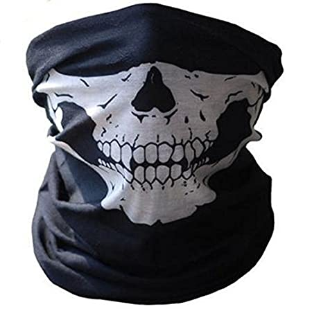 Neck Tube Red Black Skull Jaw Skiing Mask Ski Biker Boarding Hat Snood 3 PACK