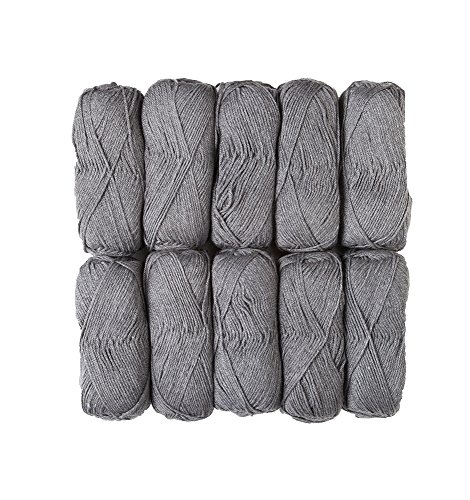 Brava Worsted Sampler 10-Pack Cobblestone Heather