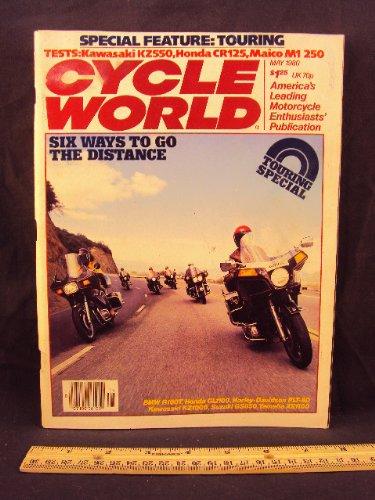 1980 80 May CYCLE WORLD Magazine (Features: Road Test on Kawaski KZ550, Honda CR125 R, & Maico M1 250)