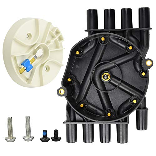 (Motovecor Ignition Distributor Cap Brass Terminals Distributor Set and Rotor Kit for Chevrolet GMC Cadillac Vortec V8 5.0l 5.7l 7.4l Compatible Part Number DR474 DR331 )