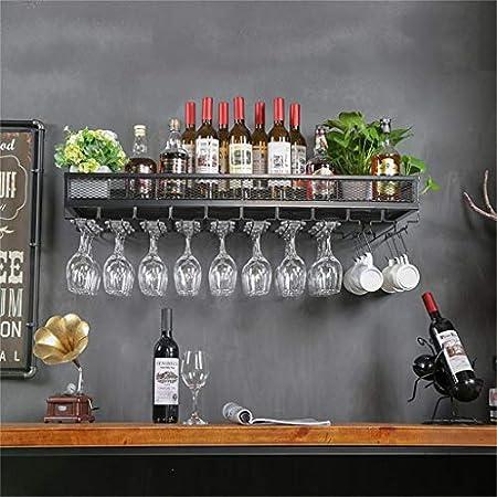 Estantería de vino Pared estante del vino del metal de la vendimia montaje | estante del vino sin pie | colgar bastidores de vino | Vino estante antiguo Pared derecha del vino vino vino más fresco en