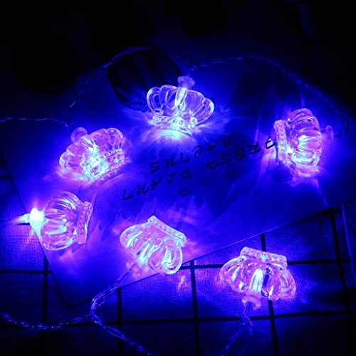 Waterproof Fairy Crown Shape Lights, Battery Operated for Bedroom Indoor Outdoor Warm White 10/20/30/40 LEDs Wire Lights for Patio Halloween Thanksgiving Christmas Party Wedding -