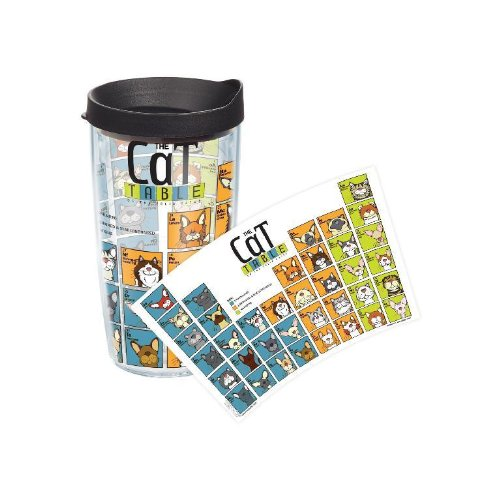 Tervis Tumbler Periodic Table Of Cat Breeds 16oz - Collegiate Patriotic Life-Time Guarantee CAT-I-16-PTAB-WRA