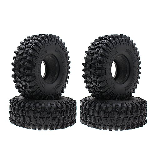 4PCS 4.7 Inch Outer Diameter RC Crawler Tires,1.9 Inch Tires for Axial SCX10 90047 Traxxas - Firm Foam Inserts Tire