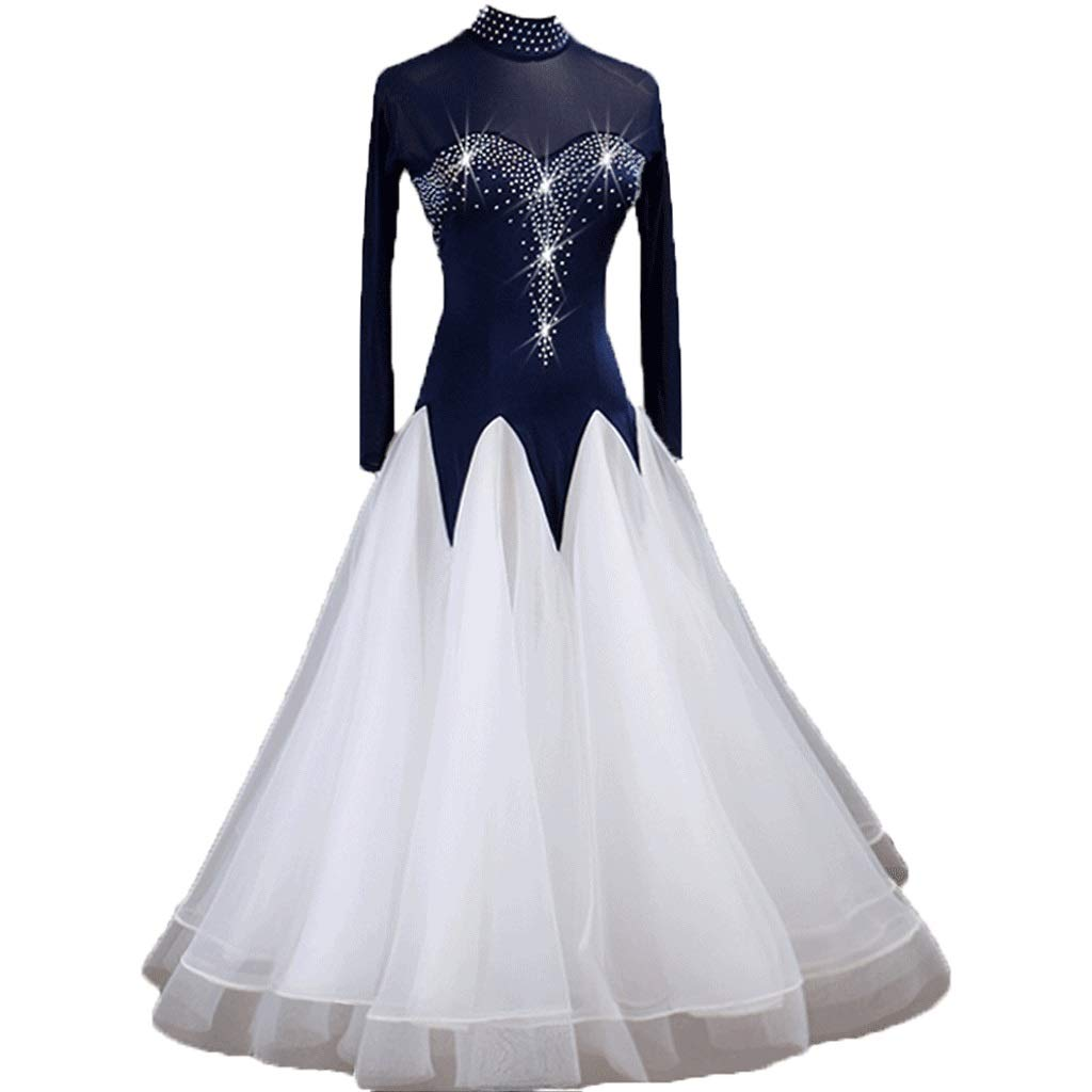 最も優遇の モダンダンススカート全国標準のダンスドレス社交ダンスワルツ競技パフォーマンス衣装 s B07QQY7MJP B07QQY7MJP S 白 s|白 白 S s, 熊本県:5dec7c95 --- a0267596.xsph.ru