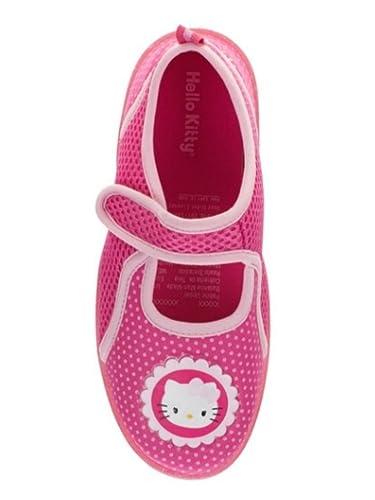 Amazon.com | Hello Kitty Girls Pink Polka Dots Water Shoes Aqua ...