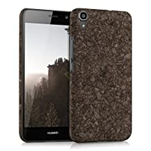 kwmobile Cork case for Huawei Y6 (2015) - protective case cover in dark brown