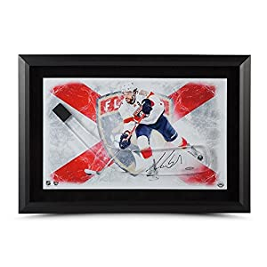 AARON EKBLAD Autographed Stick Blade With Florida Panthers Framed Picture UDA