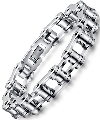 OSTAN Men's Stainless Steel Chain Link Bracelet (Style 1)