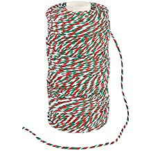Fun Express Red Green White Xmas Holiday Baker's Twine - 328ft