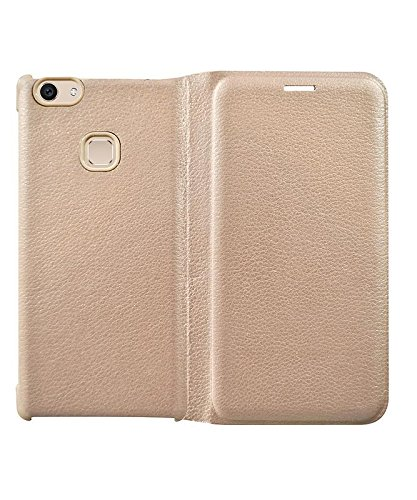newest collection c2cdd 36ac9 COVERNEW Leather OG Flip Cover for Vivo Y71i - Golden: Amazon.in ...