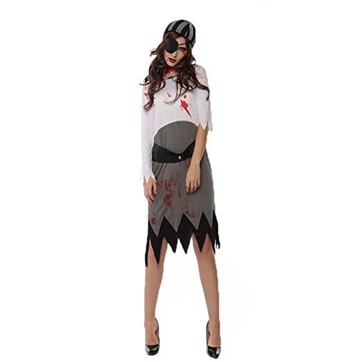 CAGYMJ Cosplay Dress Party Ropa De Mujer,Monocular Horror Pirata ...