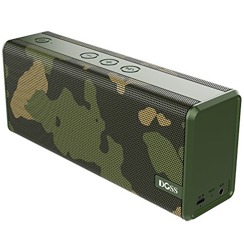 Bluetooth Speakers,DOSS SoundBox Color Portable Wireless Bluetooth 4.0 Speakers with 12W Stereo Sound and Enhanced Bass, 12 hours playtime and handsfree for iOS and Android devices[Camouflage]