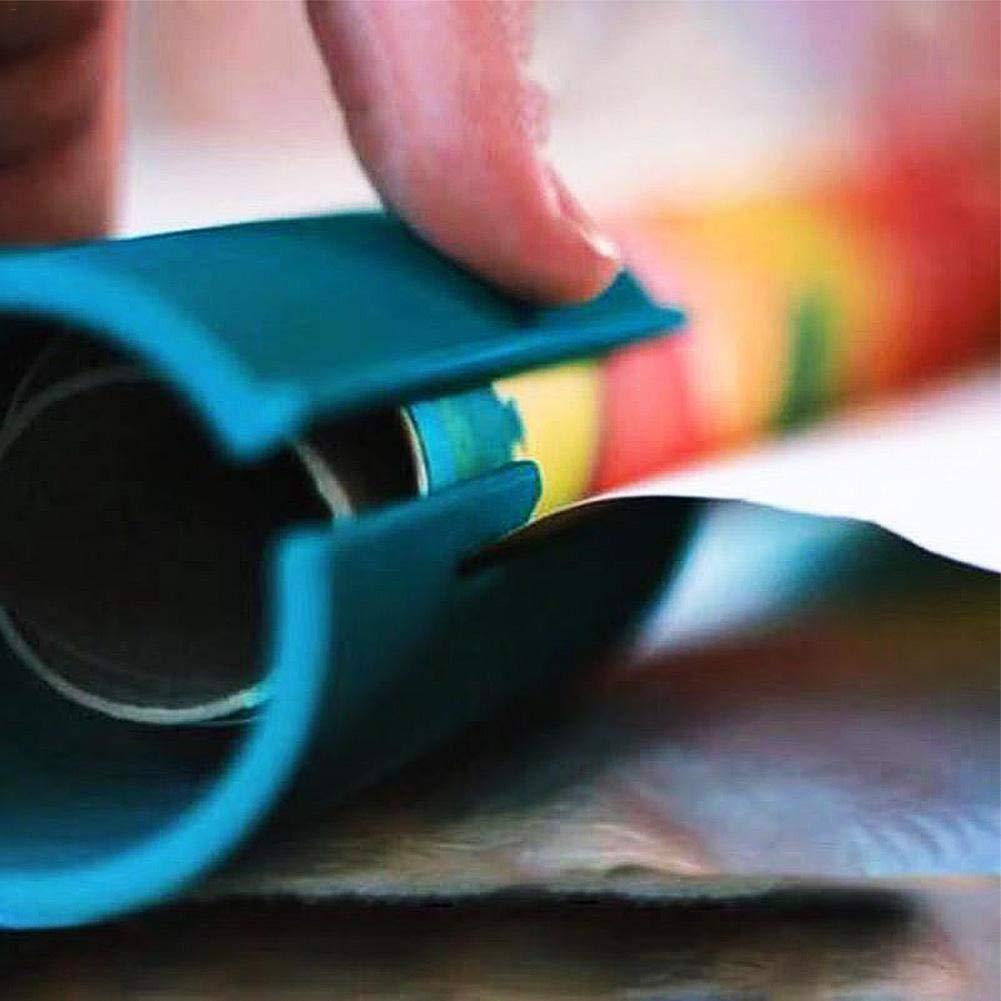 Aitsite Cortador de papel de embalaje Envoltura de regalos Cortador de papel Papel de regalo de navidad Herramienta de corte Verde