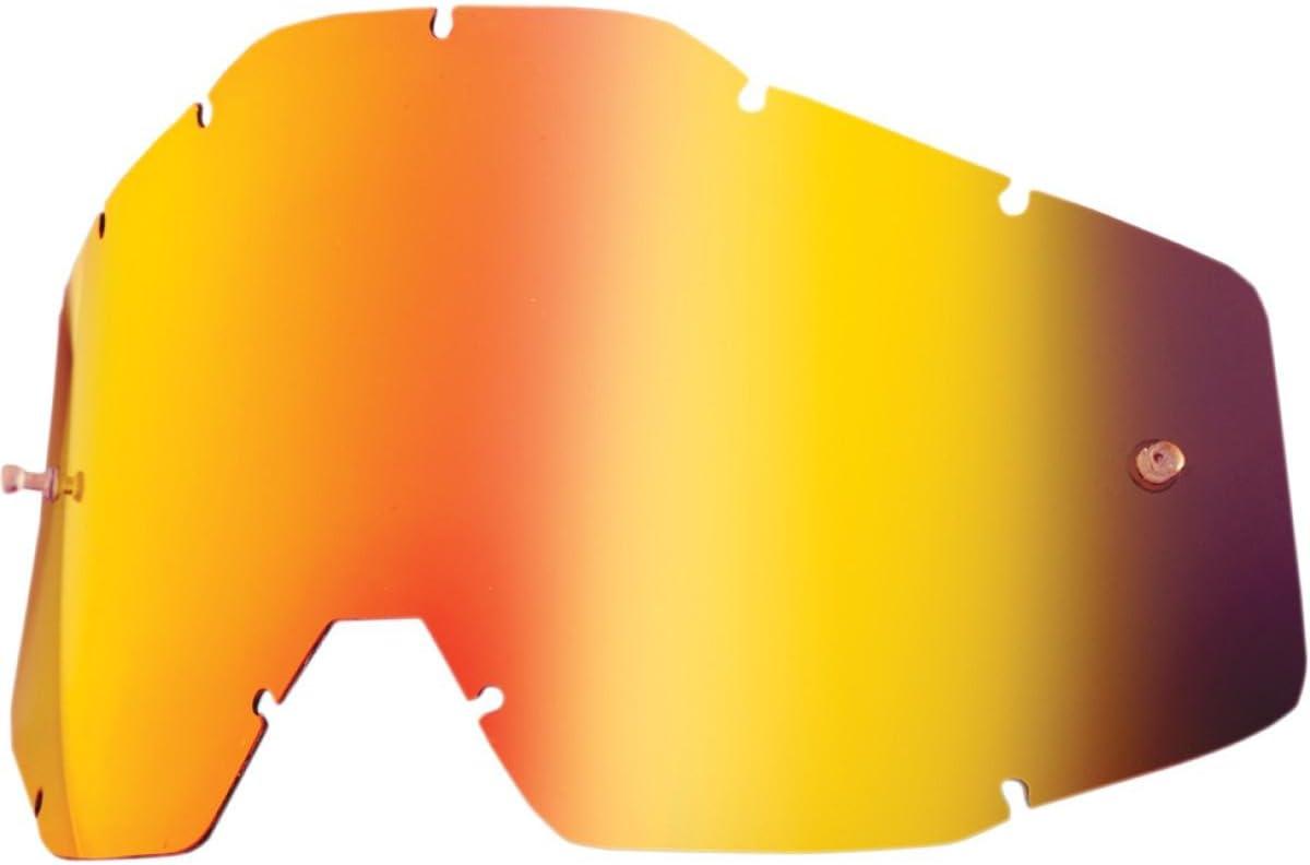 100/% Racecraft Adult Replacement Lens MotoX Motorcycle Eyewear Accessories Silver Mirror//Smoke Anti-Fog One Size