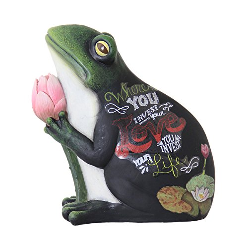 Frog Statue with Tulip (Tulip Statue)