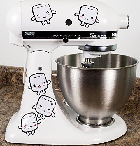 Tasty Marshmallows Kitchenaid Mixer Mixing Machine Decal ...