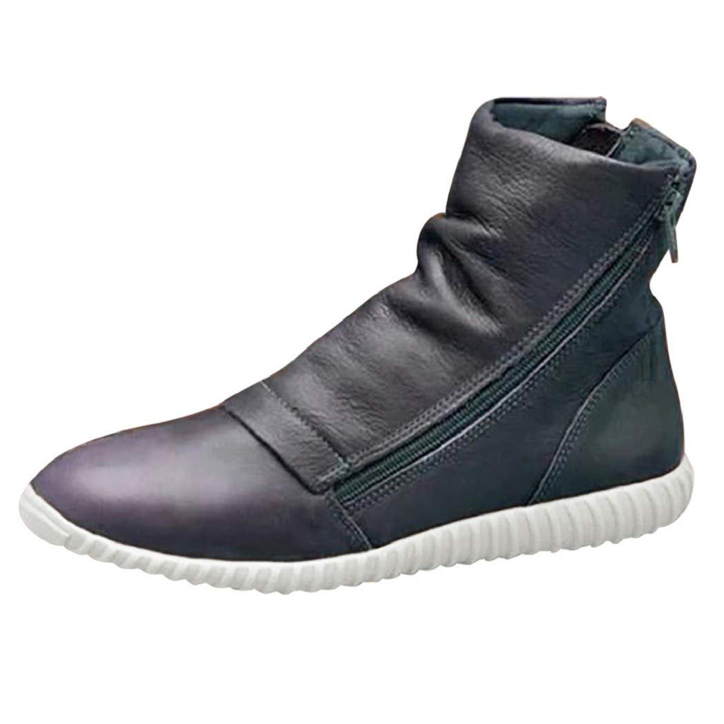 Women/'s Winter Boots Casual Arch Support Ankle Boots Wedge Heel Flat Shoes Size