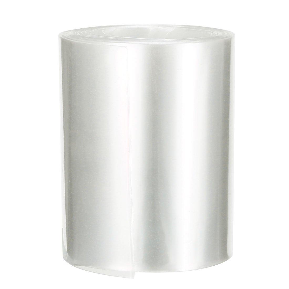 Sourcing map Tube thermor/étractable en PVC 65 mm pour AA Film r/étractable Transparent blanc 65mm-6.56 Ft