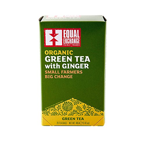 (Equal Exchange Organic Green with Ginger Tea, 20-Count)