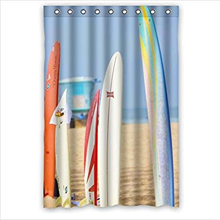 Review Best Custom Curtain,Colourful Surfboards Design 100% Polyester Waterproof Shower Curtain 48 x 72