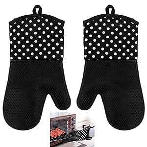 Tera par de guantes profesionales antideslizantes de silicona algod n para cocina horno - Silicona para microondas ...