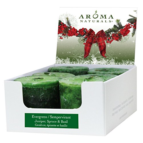 aroma-naturals-votive-candles-essential-oil-with-juniper-spruce-and-basil-evergreen-holiday-6-count