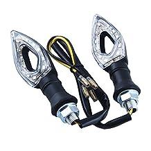 Excellent With Flasher Relay 4PCs 11 LED Hollow Design Motorbike Turn Signals Indicators Blinker Amber Light For Honda Kawasaki Yamaha Suzuki