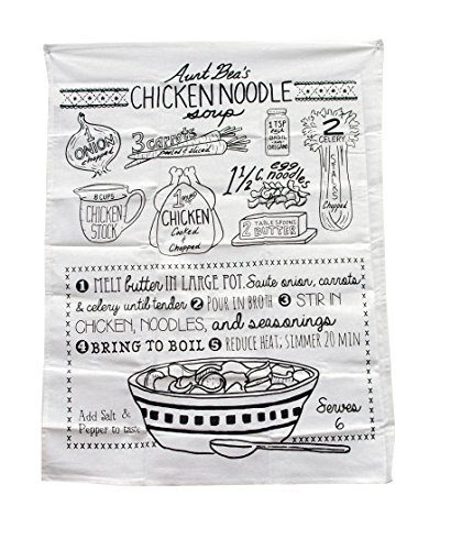 Chicken Noodle Soup Printed Graphic Linen Kitchen Towel (Chicken Coop Decorations compare prices)