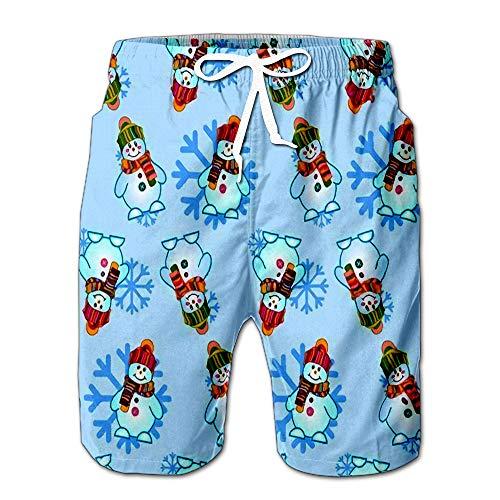 Quick Dry Snowman Beach Shorts Swim Trunks Board Shorts XL