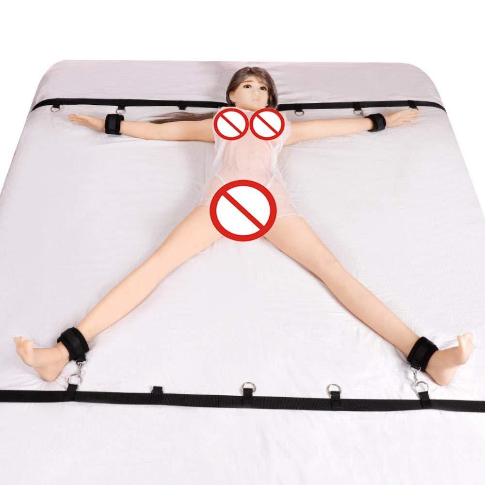 Judita Bundle Flirting Suit Bed Under The Restraint Restraint System Game a Variety of Play Leather Erotic Adult Bondage Set Passion,Black